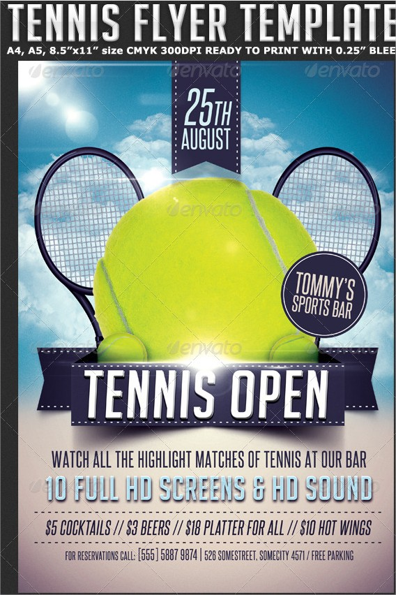 Tennis Flyer Template Free Choice Image Template Design Free Download