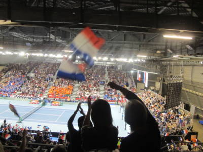 pendant le match - le clapping des supporters (2) FCo