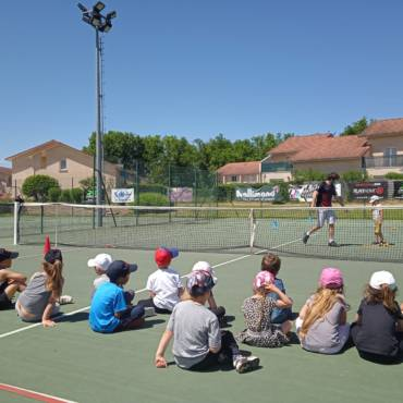 Le Tennis Club de Rives avec les scolaires